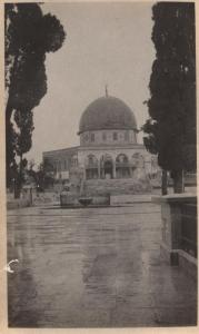 Dome of the Rock on the Temple Mount. Looking from the south ( the photographer stands quite close to El-Aksa Mosque