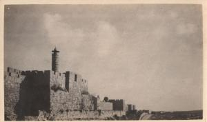 "David Castle near Jaffa gate. the Minaret shown served the military unit which was stationed in the castle (called ""David's Tower"")"